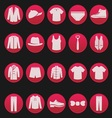 mens clothing icon 1 vector image