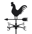 rooster weather vane vector image