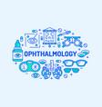 ophthalmology medical banner  eyes vector image