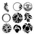 set of black silhouette vector image vector image