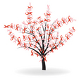 ribbon tree vector image