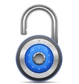 combination lock collection vector image vector image