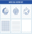 Sea set template wrapping notebooks note vector image