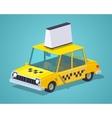 Taxi old sedan vector image