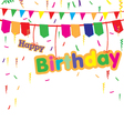 Happy birthday party with colorful gift isolated vector image