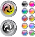 Recycle multicolor round button vector image vector image