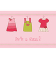 baby girl arrival card - for design and scrapbook vector image