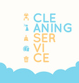 Cleaning service elements vector image