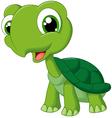 Cute cartoon turtle vector image