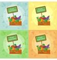 fresh vegetables all seasons vector image