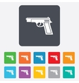 Gun sign icon Firearms weapon symbol vector image