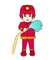 Sketchy of a fireman vector image