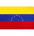 True proportions Venezuela flag with texture vector image