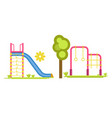 child playground with slides and bars vector image