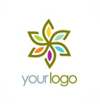 flower star colored logo vector image