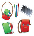 Student school or college items vector image vector image