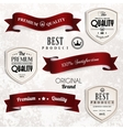 set of retro vintage ribbons and badges vector image