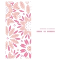 pink abstract flowers vertical frame seamless vector image