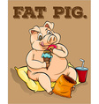 Old saying fat pig vector image
