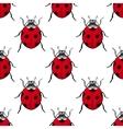 Red ladybugs vintage seamless pattern vector image