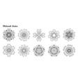 Mandala set Ethnic decorative elements vector image