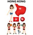 HongKong flag and many sports vector image
