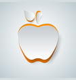 apple icon on the grey background vector image