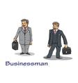 Cartoon businessman characters vector image