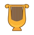 cartoon harp lyre music classic vector image