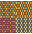 Colorful leaves patterns vector image