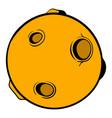 full moon icon cartoon vector image