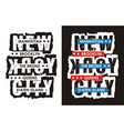 typography varsity 02 vector image