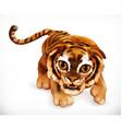 Tiger cub Funny animal 3d icon vector image