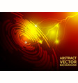 lightning abstract red background vector image