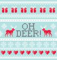 oh deer pattern christmas seamless design winter vector image vector image
