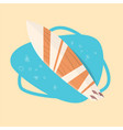 surfing board icon summer sea vacation concept vector image