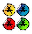 radiation warning stickers vector image