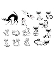 Cartoon cats collection vector image