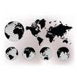 earth globes vector image vector image