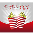popcorn background vector image vector image
