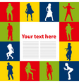 dancing people background vector image