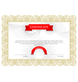 Modern Certificate Template diplomas currency vector image