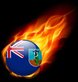 A badge in colours of montserrat flag vector image vector image