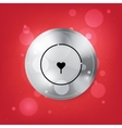 Locking hole in the form of heart vector image