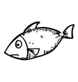 raw fish meat vector image vector image