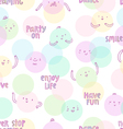 Smiley faces pattern vector image