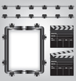 Movie equipment vector image vector image