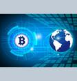 blue digital money technology worldwide network vector image