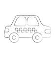 cab car transport public service city vehicle vector image