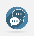 Circle blue cloud of speaking dialogue vector image
